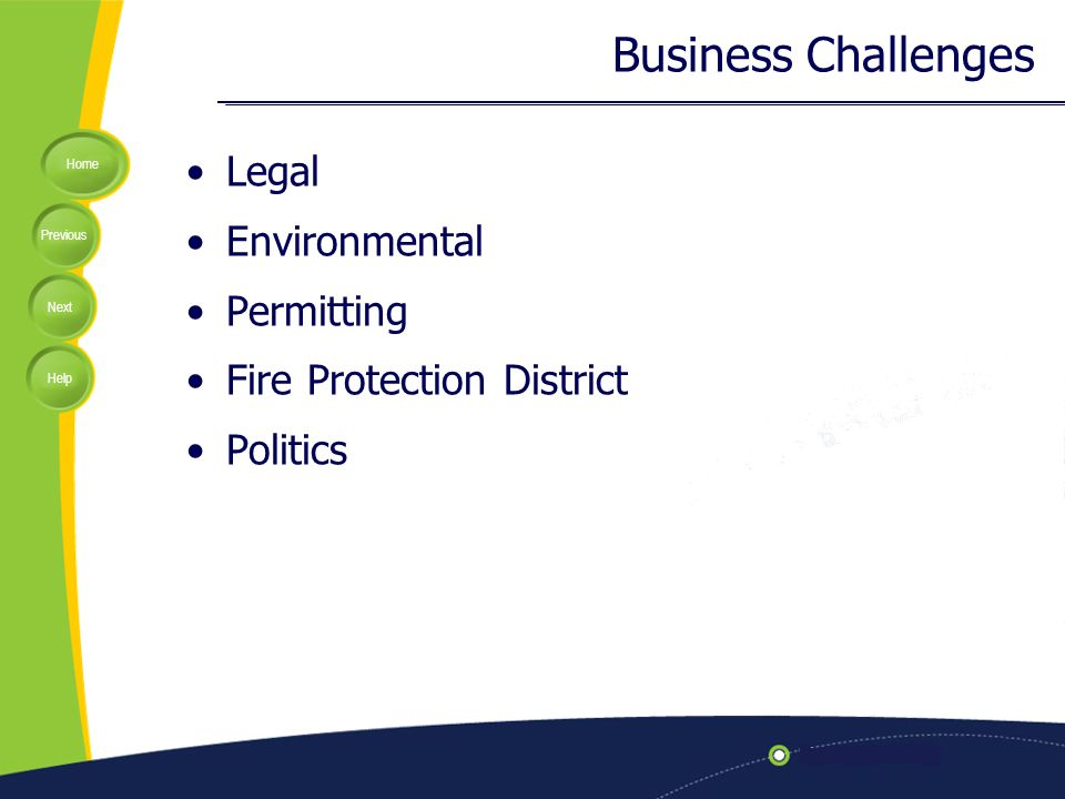 Home Previous Next Help Business Challenges Legal Environmental Permitting Fire Protection District Politics