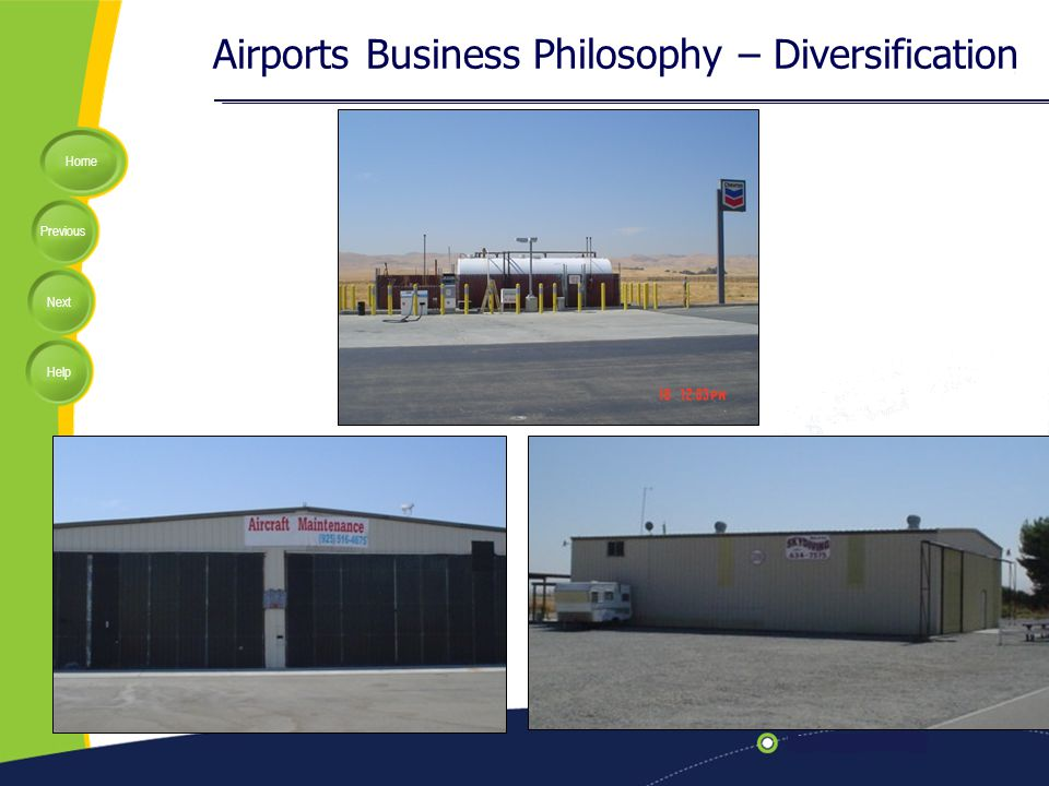 Home Previous Next Help Airports Business Philosophy – Diversification