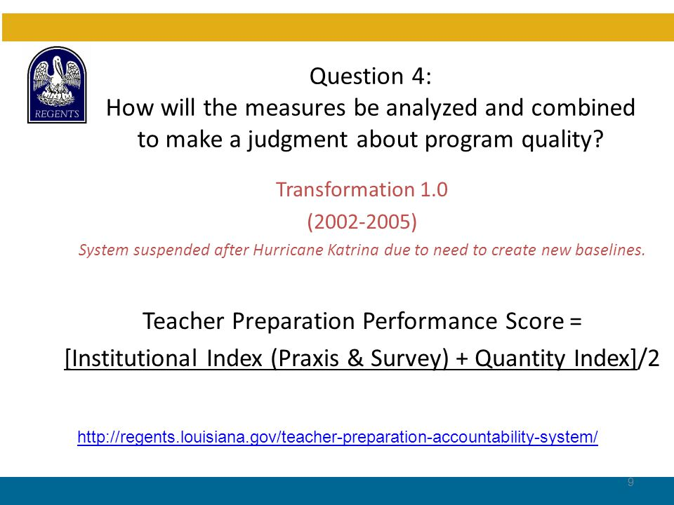 Question 4 (Cont'd.): Transformation 1.0 (2006-2011) Value-Added Teacher Preparation Assessment Model (Developed by Dr.