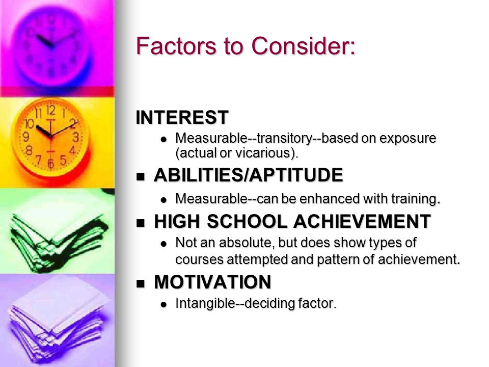 Factors to Consider: INTEREST Measurable--transitory--based on exposure (actual or vicarious).