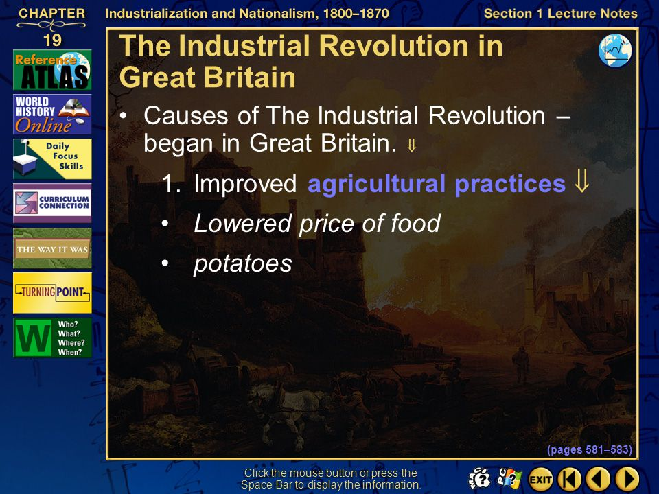 Section 2-23 Pre-1848 Tensions—Short Term (pages 592–594) Agricultural Crises Poor cereal harvests—prices rose 60% in one year.