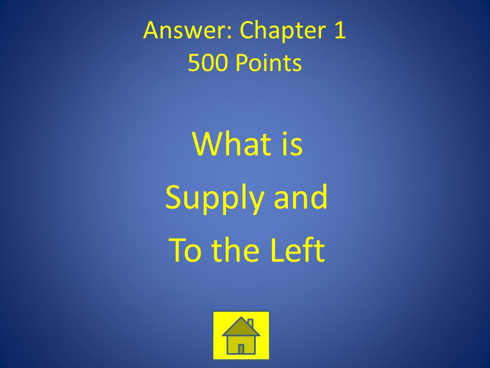 Answer: Chapter 1 500 Points What is Supply and To the Left