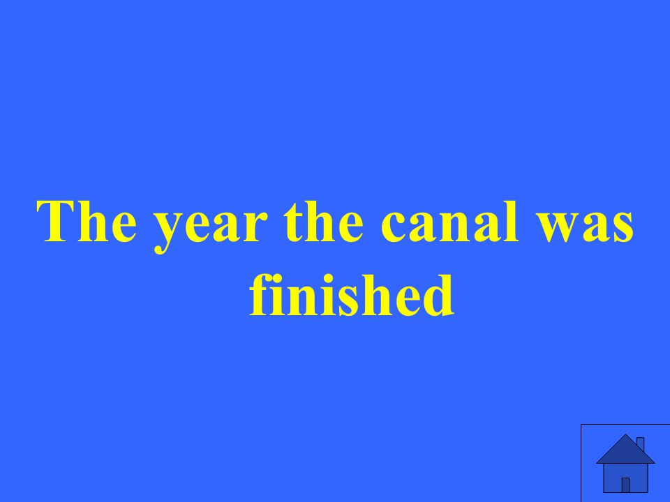 The year the canal was finished