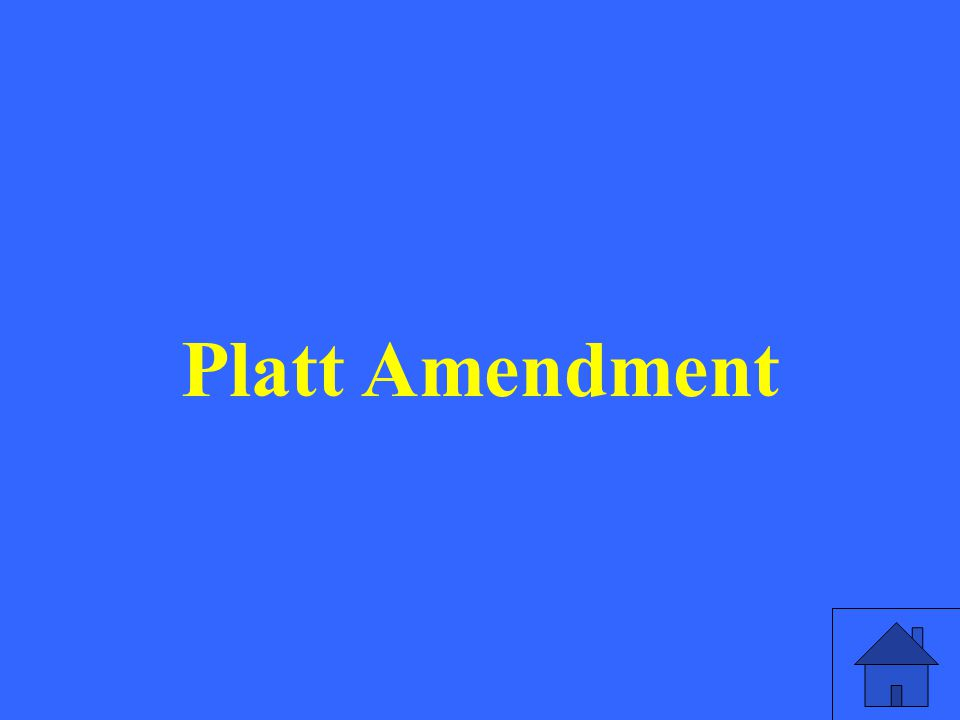 Platt Amendment