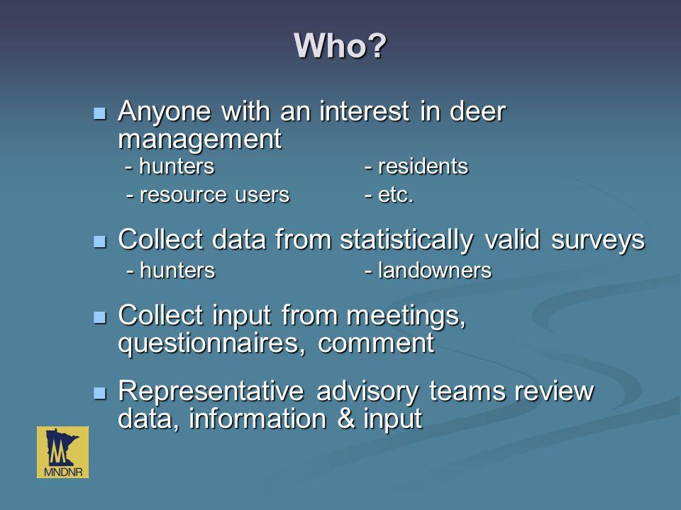 Questions Leslie.McInenly@state.mn.us Leslie.McInenly@state.mn.us 651-259-5198 Leslie.McInenly@state.mn.us www.dnr.mn.gov/deer