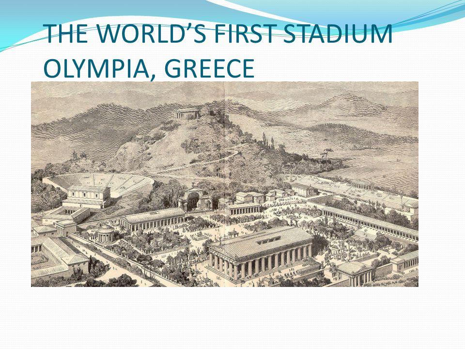 THE WORLD'S FIRST STADIUM OLYMPIA, GREECE