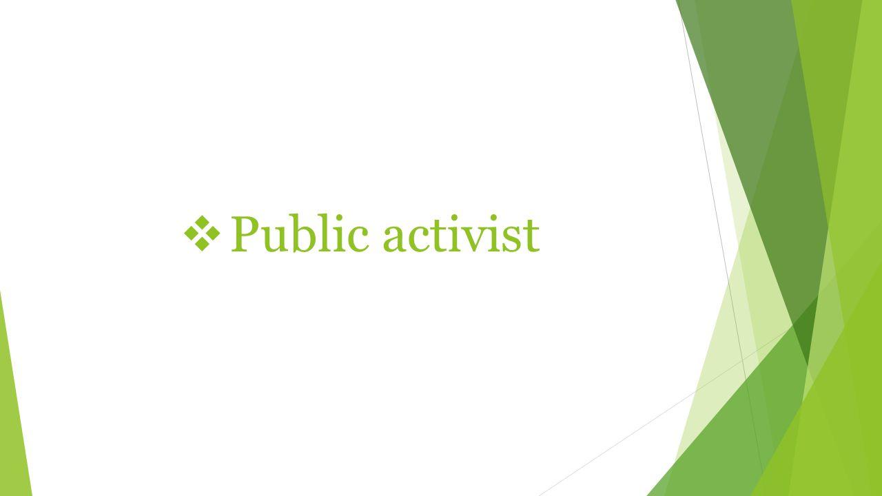  Public activist