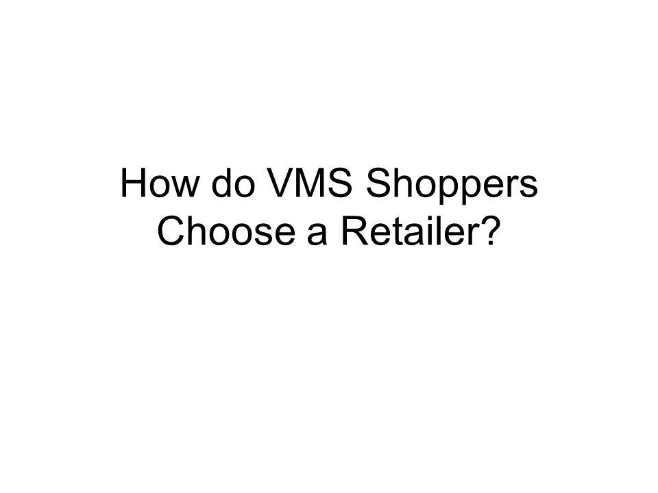 How do VMS Shoppers Choose a Retailer