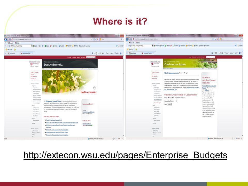 Where is it? http://extecon.wsu.edu/pages/Enterprise_Budgets