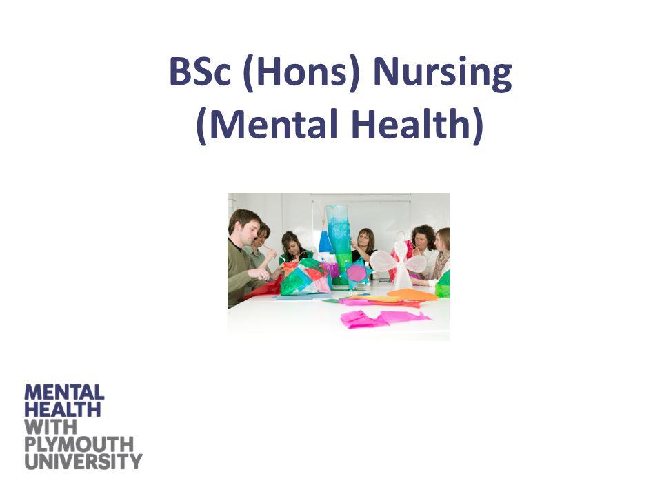 BSc (Hons) Nursing (Mental Health)