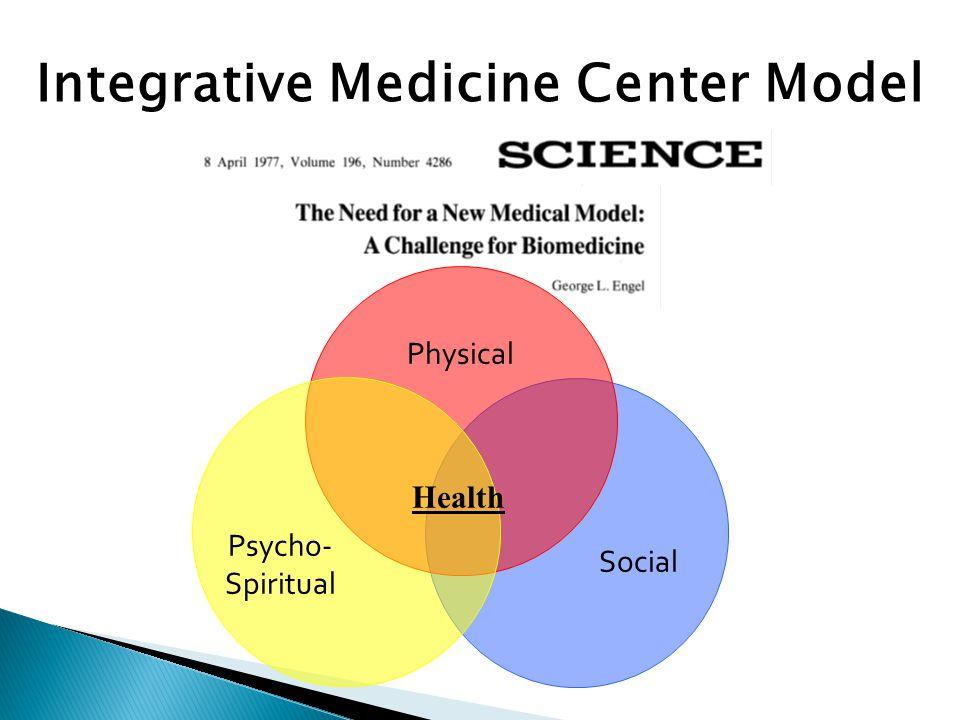 Physical Psycho- Spiritual Social Integrative Medicine Center Model Health