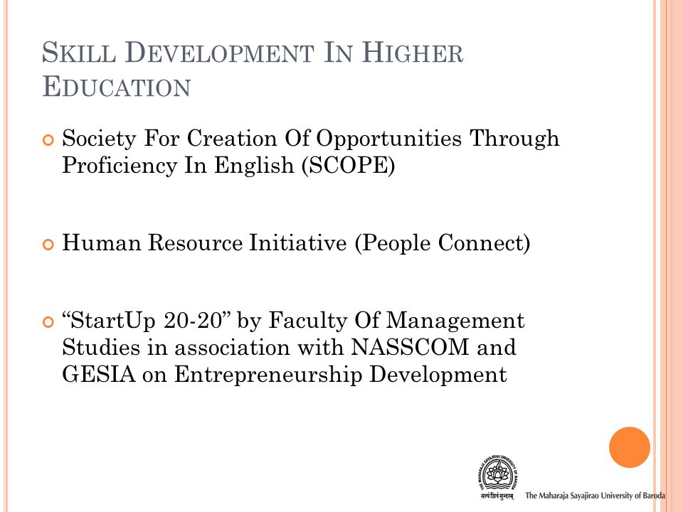 C ONSIDERATION F OR P OLICY I NITIATIVES Prominent focus on Entrepreneurship Development and Incubation Centre Sectoral Research e.g.