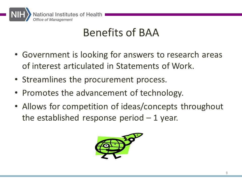 Government is looking for answers to research areas of interest articulated in Statements of Work.