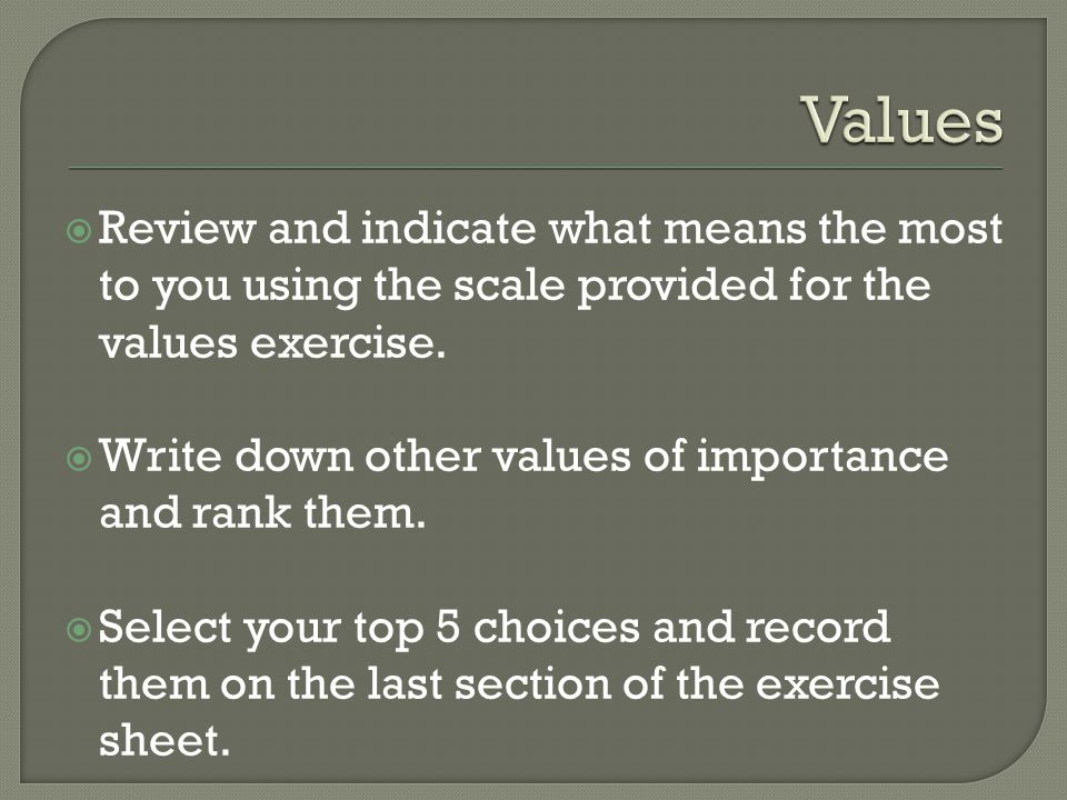  Complete the Exercise sheet as instructed 1. 2. 3. 4. 5.