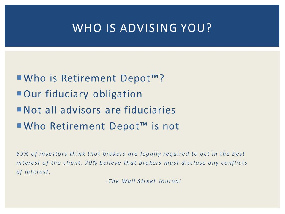  Who is Retirement Depot™.