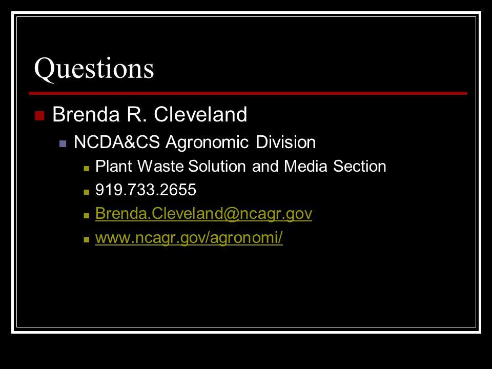 Questions Brenda R.