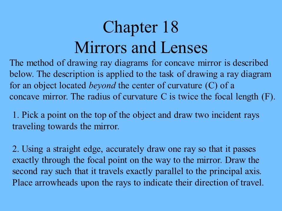 Chapter 18 Mirrors and Lenses 1.