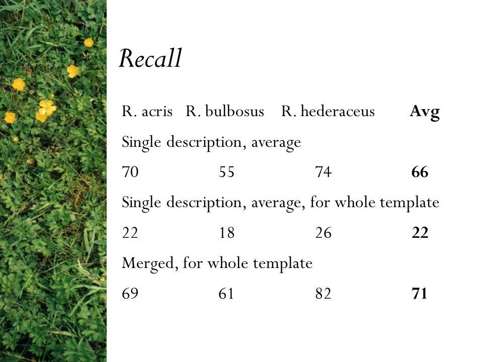 R. acris R. bulbosus R.