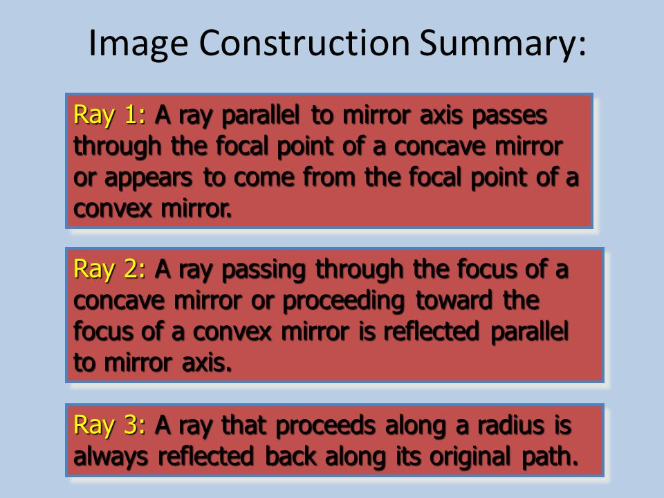 Summary (Definitions) Object distance: The straight-line distance p from the surface of a mirror to the object.