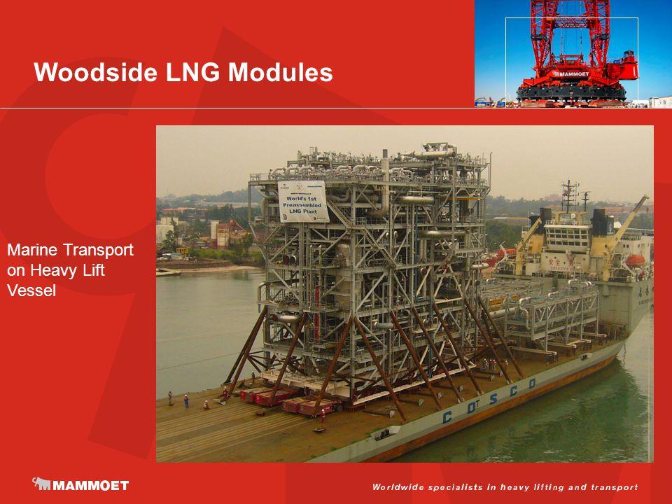 Woodside LNG Modules Marine Transport on Heavy Lift Vessel