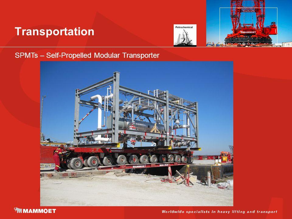 Transportation SPMTs – Self-Propelled Modular Transporter