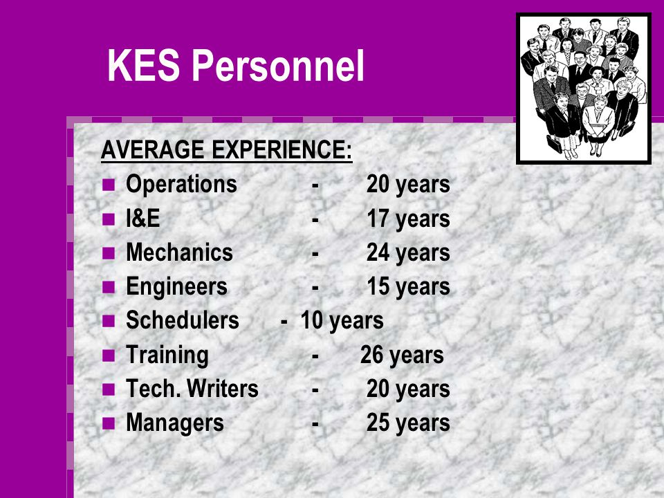Training If the Client wishes to operate the facility with his employees, KES will ensure long term profitability of your projects by passing on our k