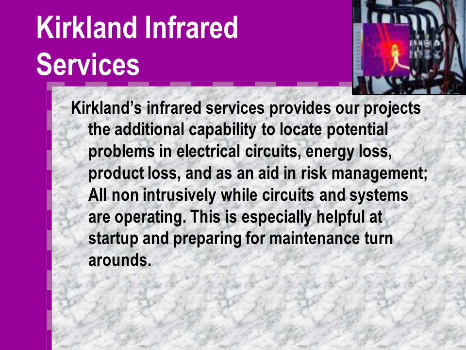 Measurement Services Kirkland Measurement Services offers a complete line of measurement services including: System Balancing (LAUF) Installations Auditing Testing/Witness Testing Measurement engineering Consulting