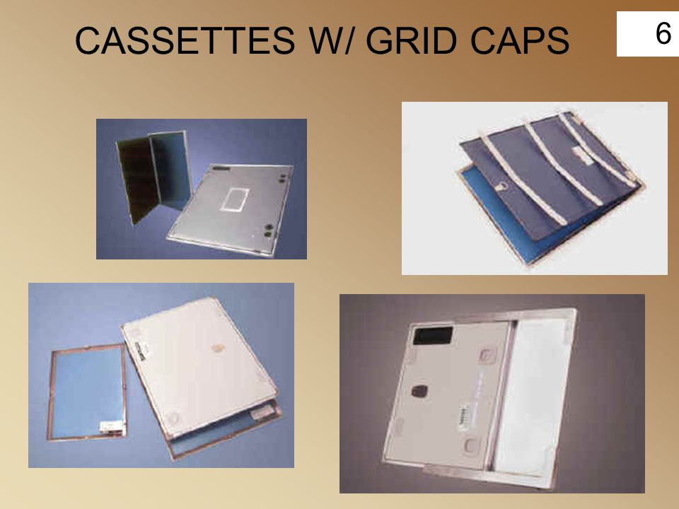 6 CASSETTES W/ GRID CAPS