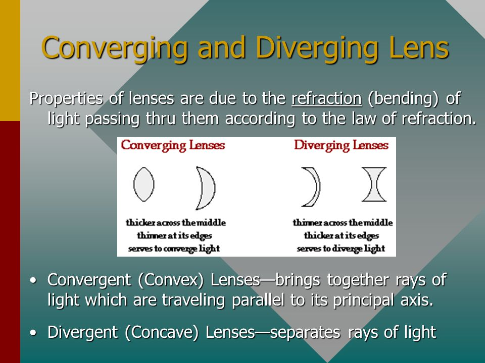 Image Formation by Lenses If a piece of glass or other transparent material takes on the appropriate shape, it will be capable of taking parallel rays