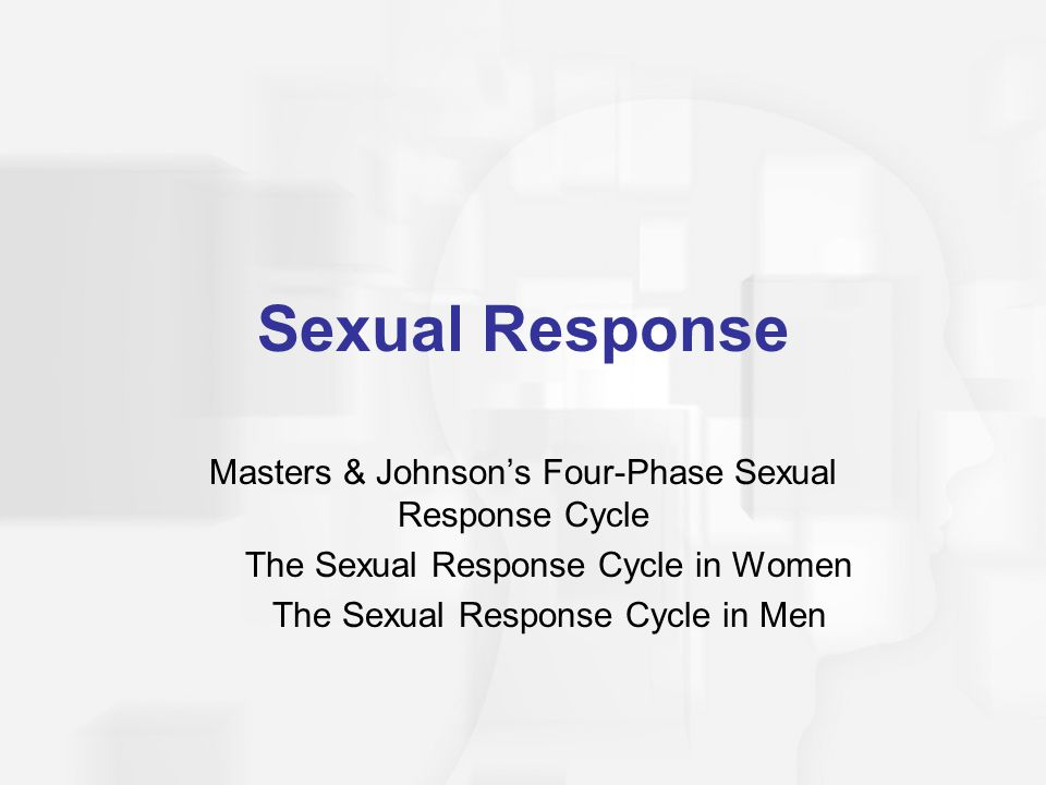 Sexual Response Masters & Johnson's Four-Phase Sexual Response Cycle The Sexual Response Cycle in Women The Sexual Response Cycle in Men