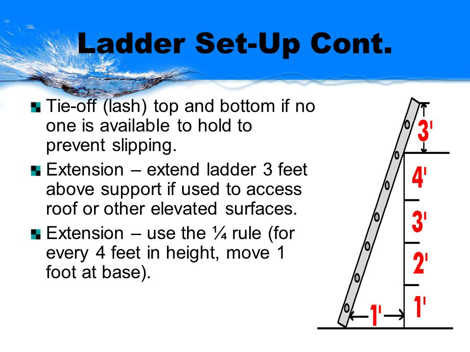 Ladder Set-Up Cont.