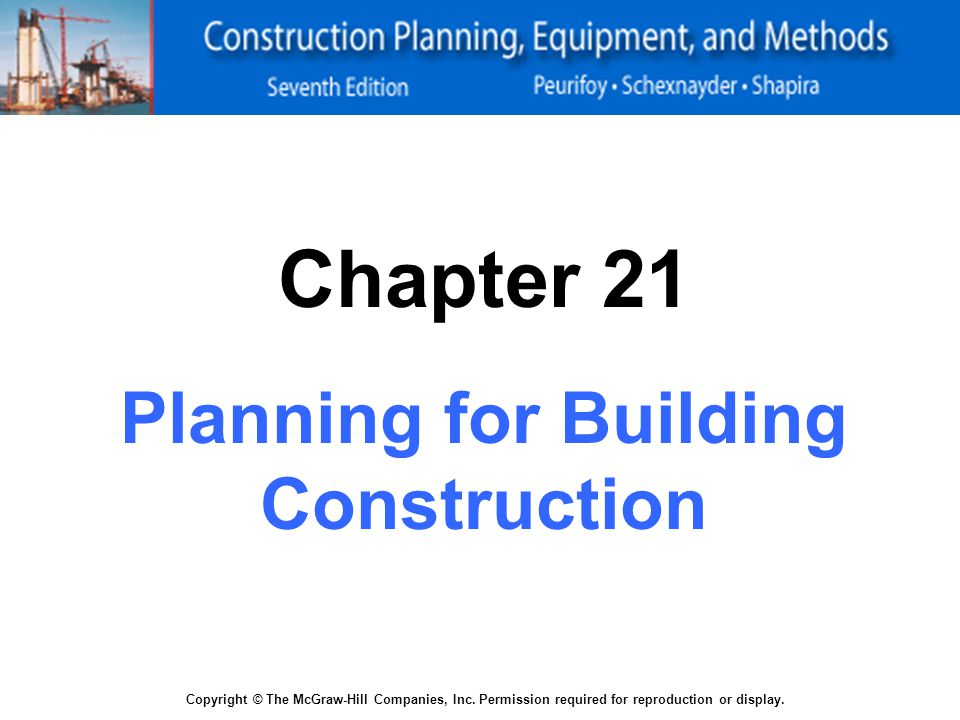 PLANNING FOR BUILDING CONSTRUCTION