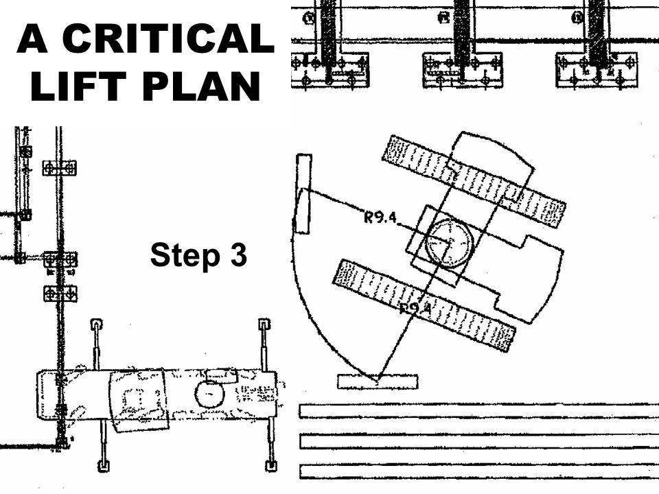 A CRITICAL LIFT PLAN Step 3