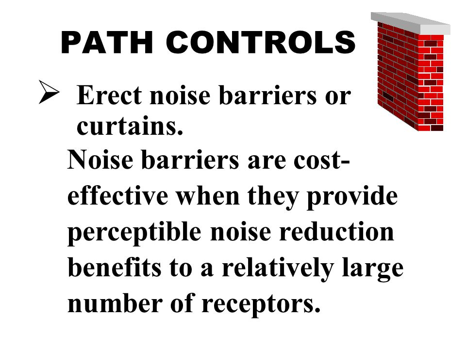 Erect noise barriers or curtains.