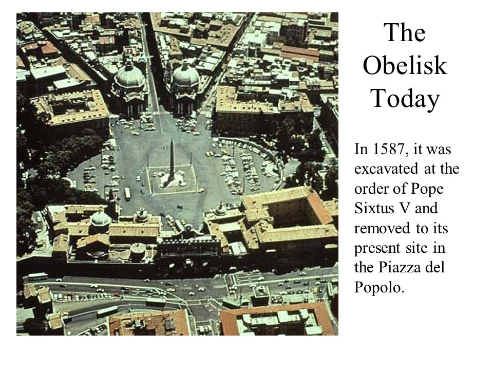 Erecting the Obelisk