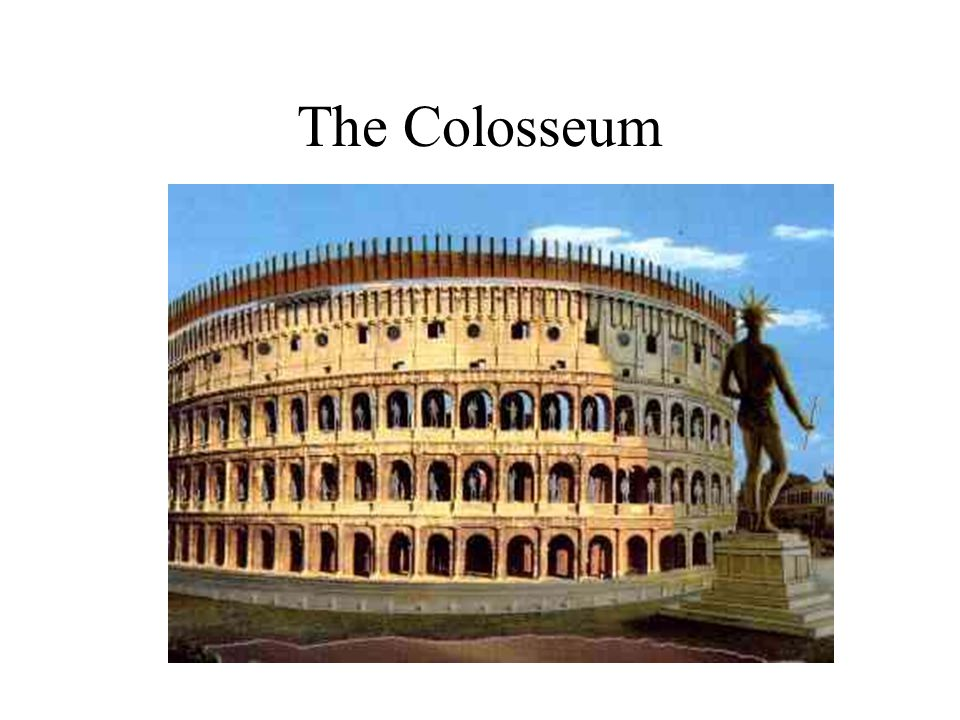 Built on the site of Nero s large lake in the gardens of his palace, the Golden House