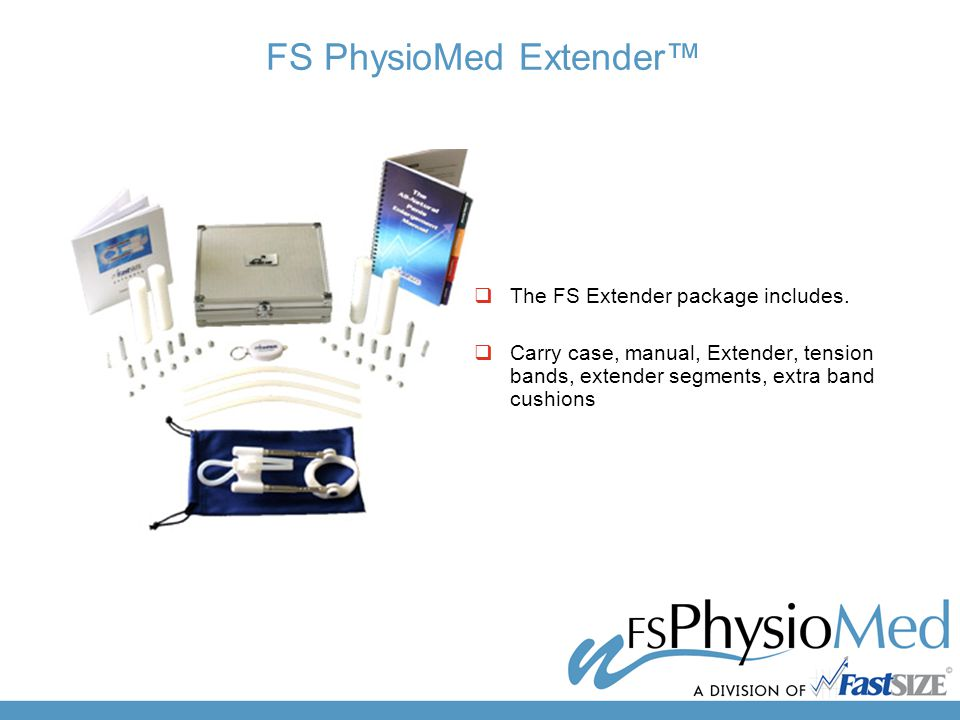FS PhysioMed Extender™  The FS Extender package includes.
