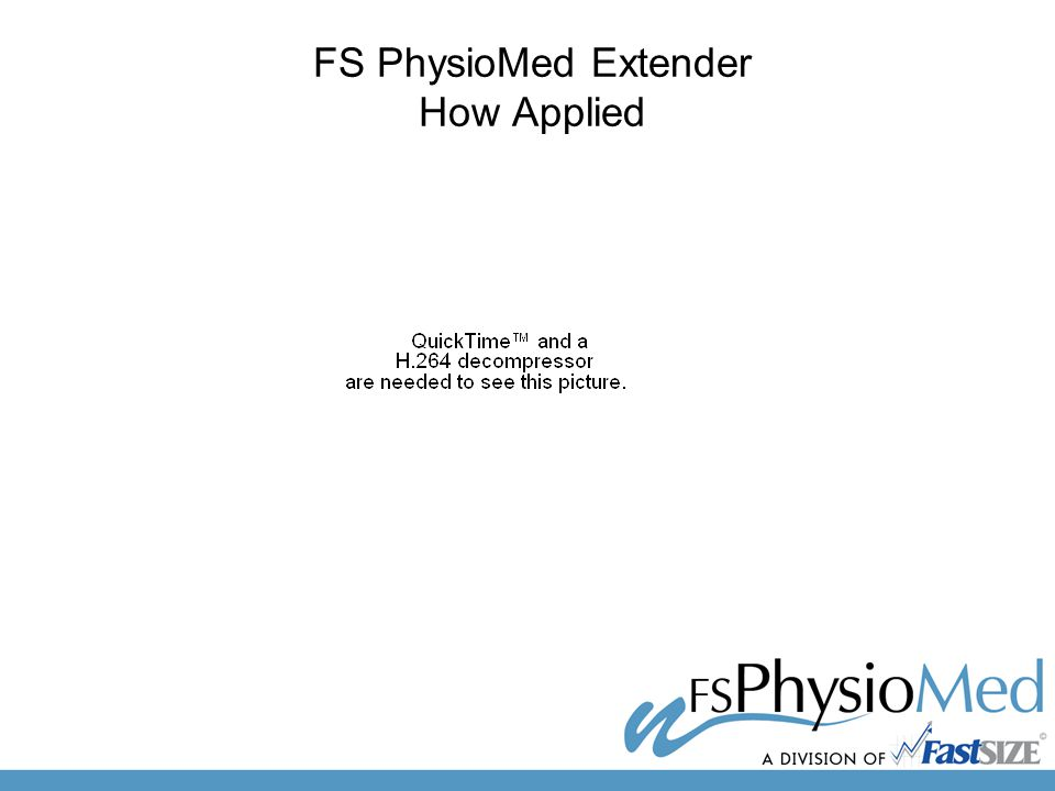 FS PhysioMed Extender How Applied