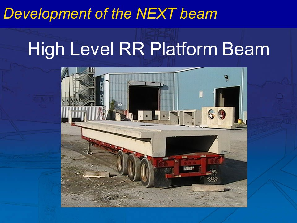 High Level RR Platform Beam Development of the NEXT beam
