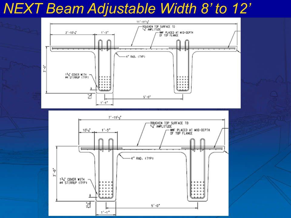NEXT Beam Adjustable Width 8' to 12'