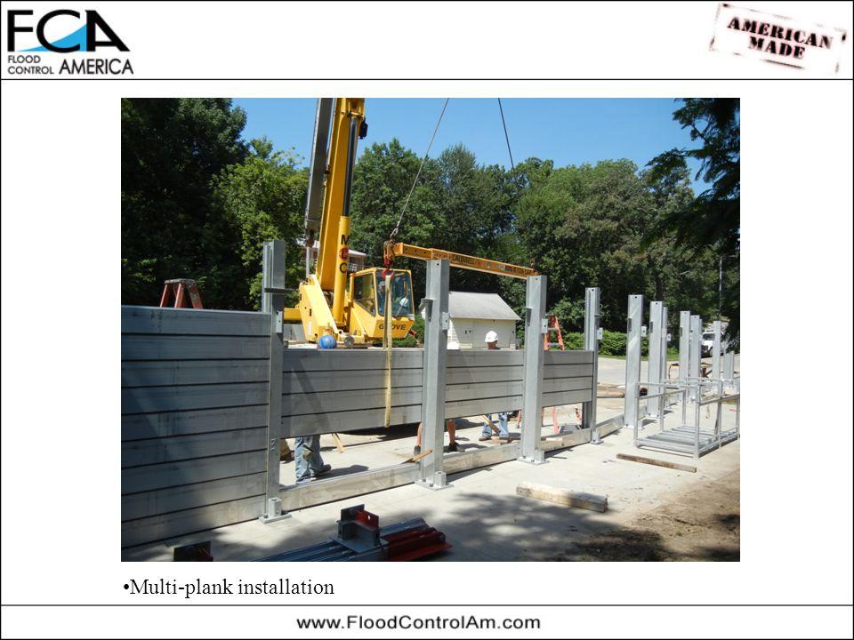 Multi-plank installation
