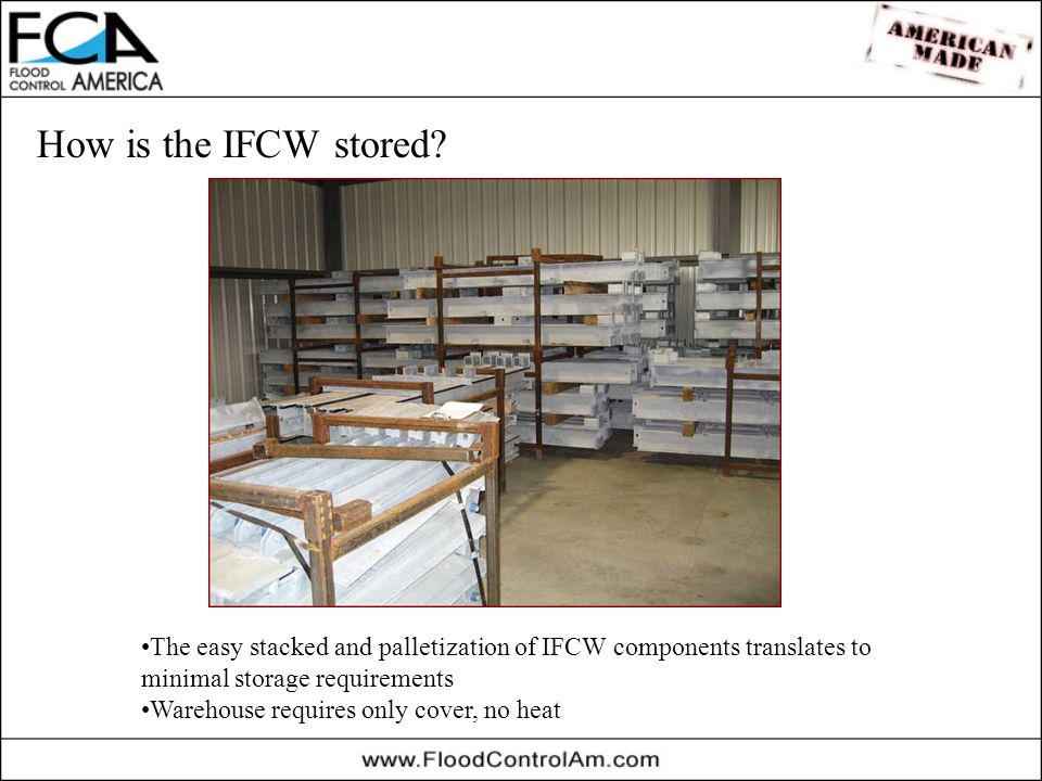 How is the IFCW stored.
