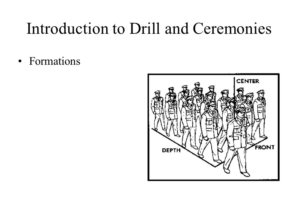 Introduction to Drill and Ceremonies Formations