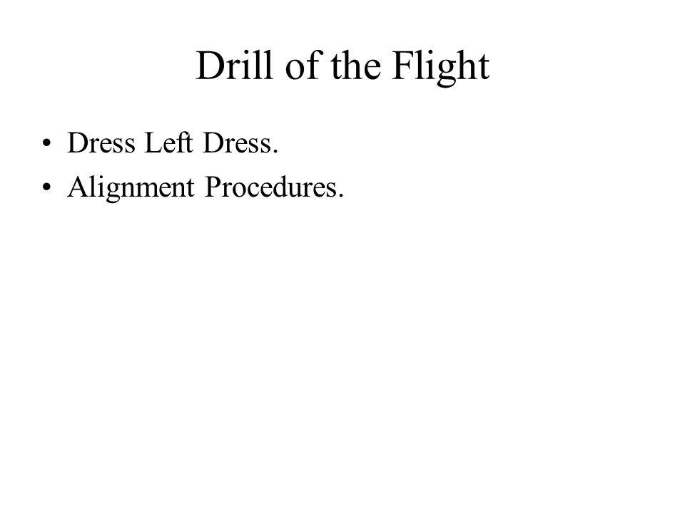 Drill of the Flight Dress Left Dress. Alignment Procedures.