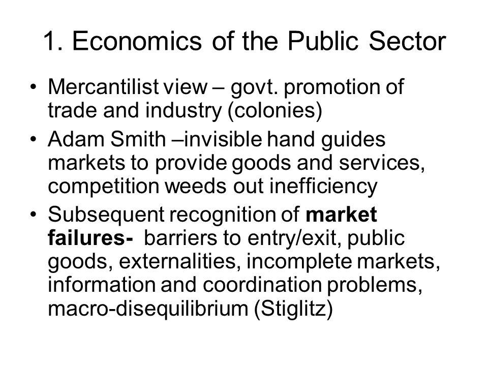 1. Economics of the Public Sector Mercantilist view – govt.
