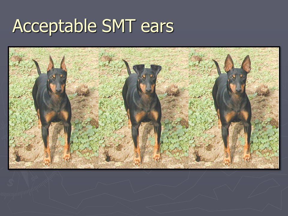 Acceptable SMT ears
