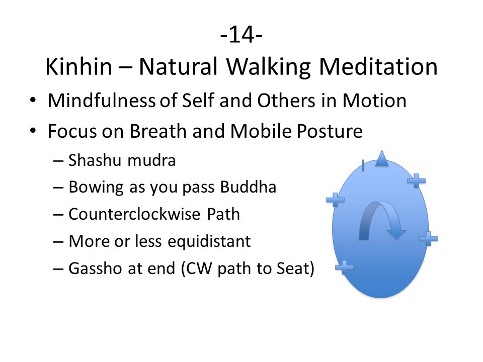 -14- Kinhin – Natural Walking Meditation Mindfulness of Self and Others in Motion Focus on Breath and Mobile Posture – Shashu mudra – Bowing as you pa