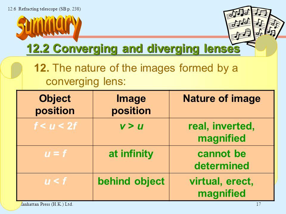 16 © Manhattan Press (H.K.) Ltd. 12.6 Refracting telescope (SB p.