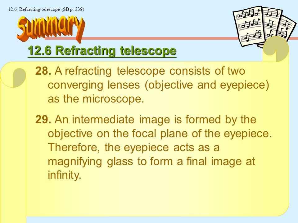25 © Manhattan Press (H.K.) Ltd. 12.6 Refracting telescope (SB p.