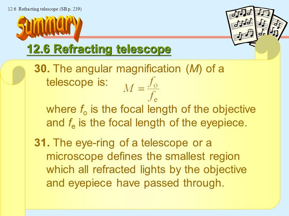26 © Manhattan Press (H.K.) Ltd. 12.6 Refracting telescope (SB p.
